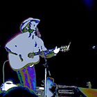 Singing Cowboy in  Psychedelic-Silhouette Coloration by  Bob Hall