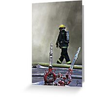 """Walking Into Danger"" Greeting Card"