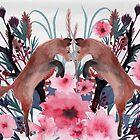 Foxy Field and Flowers by Eleanor Rhinehart