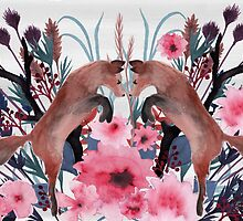 Foxy Field and Flowers by Eleanor Rhinehart
