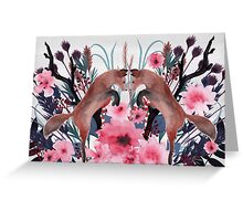 Foxy Field and Flowers Greeting Card