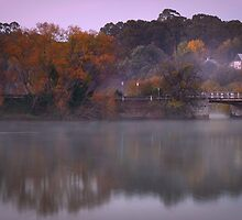 Autumn Bridge, Daylesford Lake by pbclarke