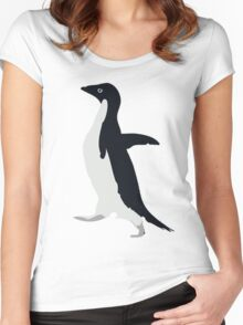 Socially Awkward Penguin Women's Fitted Scoop T-Shirt