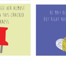 Last Words - John Green edition Sticker