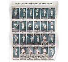Boston Luminaries Base Ball Club Poster
