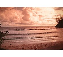 Seychelles sunset. memories from paradise. Meridien Barbarons Photographic Print