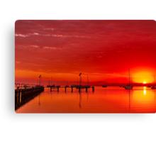 """""""Hot Autumn Dawn"""" Canvas Print"""