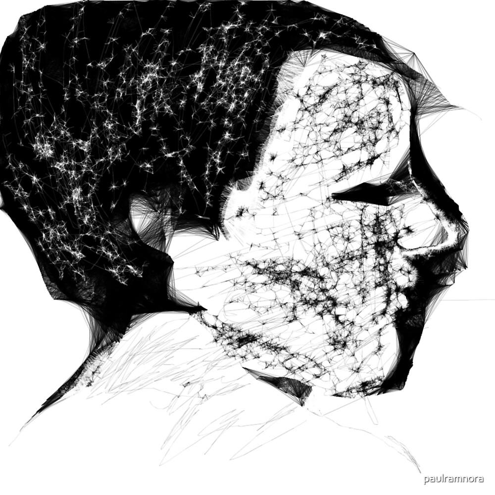Female Head -(170313)- Digital Art/Program: The Scribbler by paulramnora