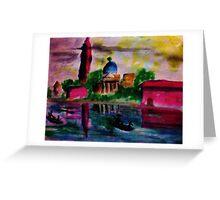 Reflected, watercolor Greeting Card