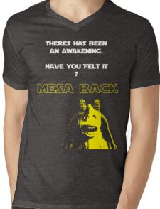 Jar Jars back Mens V-Neck T-Shirt