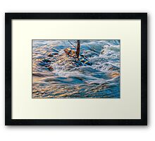 FLOWING SWIFTLY Framed Print