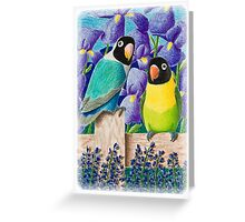 Black Faced Love Birds Greeting Card