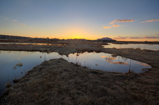 A Round Sunset by Bob Larson