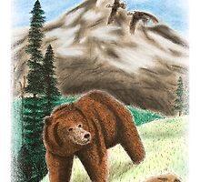 Bear on Mountain by jkartlife