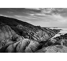 Salmon Rocks at Dusk Photographic Print