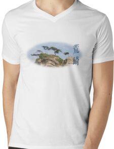 Shiroyama Mens V-Neck T-Shirt