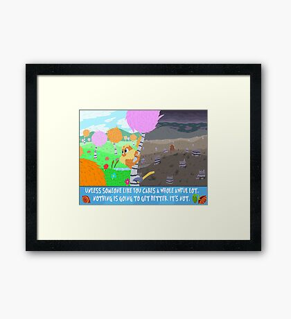 The Lorax Framed Print