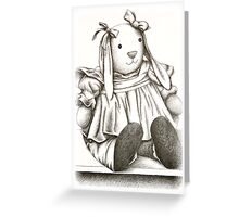 Toy Bunny Rabbit Greeting Card