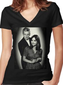 Dr. and Mrs. Oswald Women's Fitted V-Neck T-Shirt