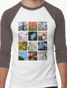 Spring Flowers Montage 1 Men's Baseball ¾ T-Shirt