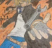 Anime guy with wrench by SoonieUchiha