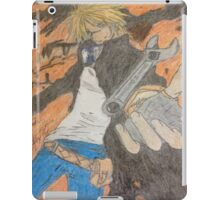 Anime guy with wrench iPad Case/Skin