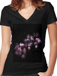 Fireworks 1 Women's Fitted V-Neck T-Shirt