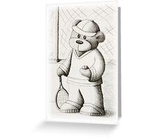 Tennis Teddy Greeting Card
