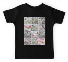 Cherry Blossoms Montage 1 Kids Tee
