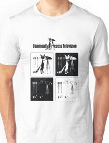 CAT T.V. in 4 Squares Unisex T-Shirt