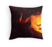 Feet and the fire Throw Pillow