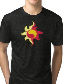My little Pony - Sunset Shimmer Cutie Mark V3 Tri-blend T-Shirt