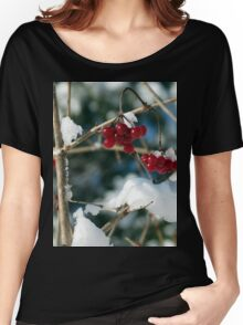 Winter Berries Women's Relaxed Fit T-Shirt