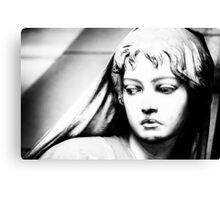 Lady in b&w Canvas Print