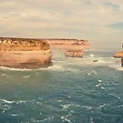 Australia - Great Ocean Road Panorama - II by lesslinear