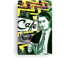 "Twin Peaks Agent Cooper ""A Damn FIne Cup of Coffee"" Canvas Print"
