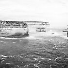Australia - Great Ocean Road - BW II by lesslinear