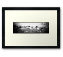 Australia - Great Ocean Road - BW II Framed Print