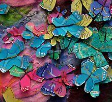 Butterflies on Felt - Handmade by myself by Nira Dabush