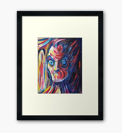 Angry Neighbor by Suzanne Marie Leclair Framed Print