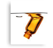 Amber Bottle Submerged Canvas Print