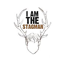 I am the Stagman! Photographic Print