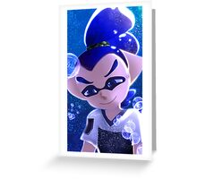 Splatoon Inkling Boy Underwater Greeting Card