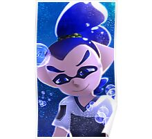 Splatoon Inkling Boy Underwater Poster