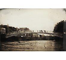 Ha'Penny Bridge in the Rain Photographic Print