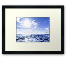 Sunshine and global warming Framed Print