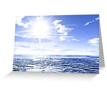 Sunshine and global warming Greeting Card