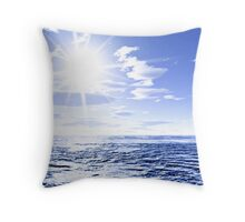 Sunshine and global warming Throw Pillow