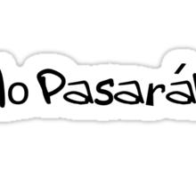 No Pasaran T-shirt Sticker