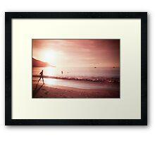 Seychelles sunset. Framed Print
